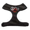 Mirage Pet Products Peace, Love, Bone Design Soft Mesh Harnesses Black Small