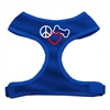 Mirage Pet Products Peace, Love, Bone Design Soft Mesh Harnesses Blue Small