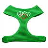 Mirage Pet Products Peace, Love, Bone Design Soft Mesh Harnesses Emerald Green Small
