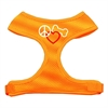 Mirage Pet Products Peace, Love, Bone Design Soft Mesh Harnesses Orange Small
