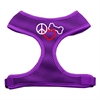 Mirage Pet Products Peace, Love, Bone Design Soft Mesh Harnesses Purple Large