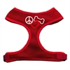 Mirage Pet Products Peace, Love, Bone Design Soft Mesh Harnesses Red Small