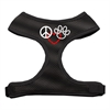 Mirage Pet Products Peace, Love, Paw Design Soft Mesh Harnesses Black Extra Large