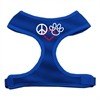Mirage Pet Products Peace, Love, Paw Design Soft Mesh Harnesses Blue Extra Large