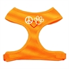 Mirage Pet Products Peace, Love, Paw Design Soft Mesh Harnesses Orange Small