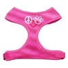 Mirage Pet Products Peace, Love, Paw Design Soft Mesh Harnesses Pink Extra Large