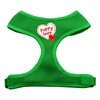Mirage Pet Products Puppy Love Soft Mesh Harnesses Emerald Green Extra Large