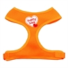 Mirage Pet Products Puppy Love Soft Mesh Harnesses Orange Small
