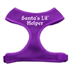 Mirage Pet Products Santa's Lil Helper Screen Print Soft Mesh Harness Purple Small