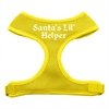 Mirage Pet Products Santa's Lil Helper Screen Print Soft Mesh Harness Yellow Medium