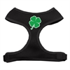 Mirage Pet Products Shamrock Screen Print Soft Mesh Harness Black Extra Large