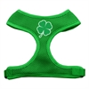 Mirage Pet Products Shamrock Screen Print Soft Mesh Harness Emerald Green Medium