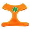 Mirage Pet Products Shamrock Screen Print Soft Mesh Harness Orange Medium