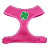 Mirage Pet Products Shamrock Screen Print Soft Mesh Harness Pink Small