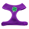 Mirage Pet Products Shamrock Screen Print Soft Mesh Harness Purple Large
