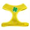 Mirage Pet Products Shamrock Screen Print Soft Mesh Harness Yellow Large
