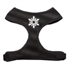 Mirage Pet Products Snowflake Design Soft Mesh Harnesses Black Extra Large