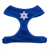 Mirage Pet Products Snowflake Design Soft Mesh Harnesses Blue Extra Large