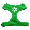 Mirage Pet Products Snowflake Design Soft Mesh Harnesses Emerald Green Medium