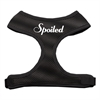 Mirage Pet Products Spoiled Design Soft Mesh Harnesses Black Extra Large
