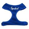 Mirage Pet Products Spoiled Design Soft Mesh Harnesses Blue Small
