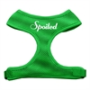 Mirage Pet Products Spoiled Design Soft Mesh Harnesses Emerald Green Medium