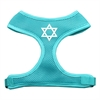 Mirage Pet Products Star of David Screen Print Soft Mesh Harness Aqua Medium
