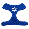 Mirage Pet Products Star of David Screen Print Soft Mesh Harness Blue Extra Large