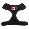 Mirage Pet Products USA Star Screen Print Soft Mesh Harness Black Small