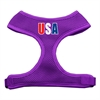 Mirage Pet Products USA Star Screen Print Soft Mesh Harness Purple Large