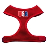 Mirage Pet Products USA Star Screen Print Soft Mesh Harness Red Large