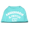 Mirage Pet Products Aberdoggie NY Screenprint Shirts Aqua XS (8)