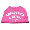 Mirage Pet Products Aberdoggie NY Screenprint Shirts Bright Pink XXL (18)