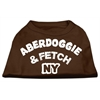 Mirage Pet Products Aberdoggie NY Screenprint Shirts Brown XS (8)