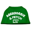 Mirage Pet Products Aberdoggie NY Screenprint Shirts Emerald Green XS (8)