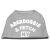 Mirage Pet Products Aberdoggie NY Screenprint Shirts Grey Lg (14)