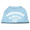 Mirage Pet Products Aberdoggie NY Screenprint Shirts Baby Blue XXL (18)