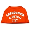 Mirage Pet Products Aberdoggie NY Screenprint Shirts Orange Lg (14)