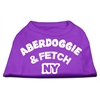 Mirage Pet Products Aberdoggie NY Screenprint Shirts Purple XS (8)