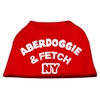 Mirage Pet Products Aberdoggie NY Screenprint Shirts Red XS (8)