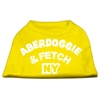Mirage Pet Products Aberdoggie NY Screenprint Shirts Yellow Lg (14)