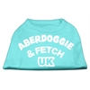 Mirage Pet Products Aberdoggie UK Screenprint Shirts Aqua XS (8)