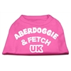 Mirage Pet Products Aberdoggie UK Screenprint Shirts Bright Pink Lg (14)