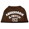 Mirage Pet Products Aberdoggie UK Screenprint Shirts Brown Lg (14)