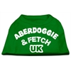 Mirage Pet Products Aberdoggie UK Screenprint Shirts Emerald Green Sm (10)