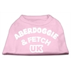 Mirage Pet Products Aberdoggie UK Screenprint Shirts Light Pink Med (12)