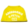 Mirage Pet Products Aberdoggie UK Screenprint Shirts Yellow XS (8)