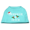 Mirage Pet Products Aberdoggie Christmas Screen Print Shirt Aqua XXXL(20)
