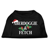 Mirage Pet Products Aberdoggie Christmas Screen Print Shirt Black XS (8)