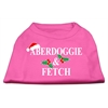Mirage Pet Products Aberdoggie Christmas Screen Print Shirt Bright Pink XXXL(20)